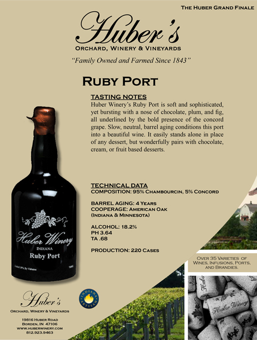 Huber Winery's Ruby Port